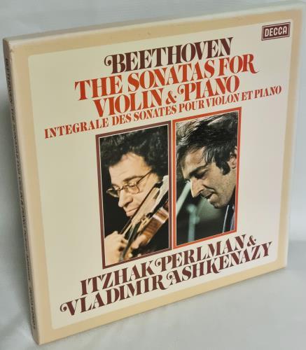 Itzhak Perlman & Vladimir Ashkenazy Beethoven: The Sonatas For Violin & Piano Vinyl Box Set Dutch IS2VXBE769848