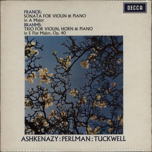 Itzhak Perlman & Vladimir Ashkenazy Franck: Sonata For Violin & Piano in A Major / Brahms: Trio For Violin, Horn & Piano in E Flat Major vinyl LP album (LP record) UK IS2LPFR576040