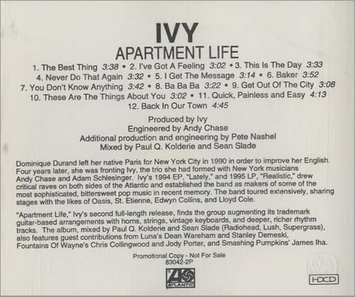 Ivy In Apartment Life Cd Al Cdlp Us Ia4cdap477473