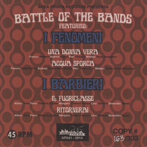 "I Barbieri Battle Of The Bands! - Numbered 7"" vinyl single (7 inch record) Italian 18B07BA767576"