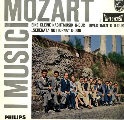 I Musici Mozart: Eine Kleine Nachtmusik / Divertimento / Serenata Notturna vinyl LP album (LP record) Dutch IEOLPMO560299