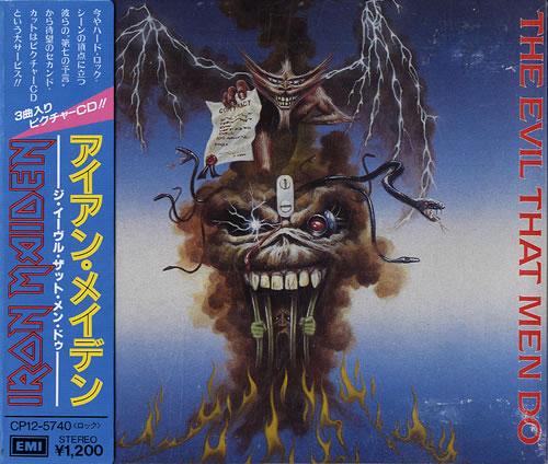 """Iron Maiden The Evil That Men Do + Obi-Strip CD single (CD5 / 5"""") Japanese IROC5TH555841"""