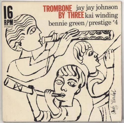 J.J. Johnson Trombone By Three [16rpm] - Andy Warhol Cover vinyl LP album (LP record) US JD5LPTR733986