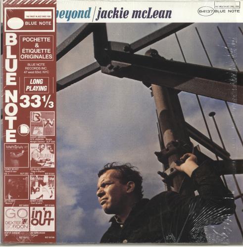 Jackie McLean One Step Beyond + obi/shrink vinyl LP album (LP record) French JM7LPON703031