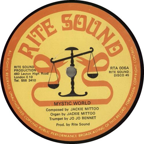 "Jackie Mittoo Mystic World 12"" vinyl single (12 inch record / Maxi-single) UK JDJ12MY698598"