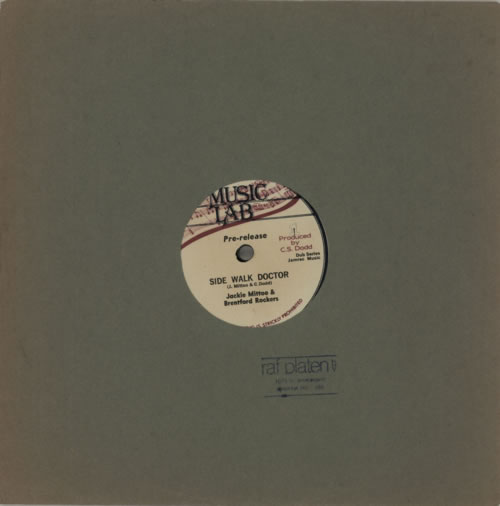"Jackie Mittoo Side Walk Doctor 10"" vinyl single (10"" record) US JDJ10SI587582"