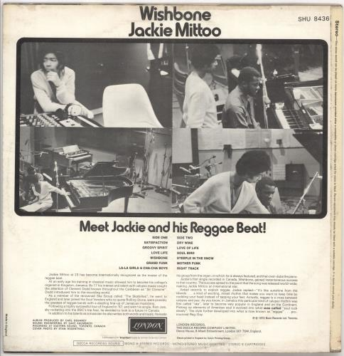 Jackie Mittoo Wishbone vinyl LP album (LP record) UK JDJLPWI721485