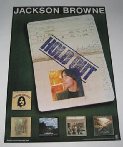 Jackson Browne Hold Out poster Japanese JKBPOHO350389