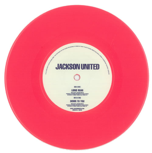 "Jackson United Lions Roar - Pink Vinyl 7"" vinyl single (7 inch record) UK JA107LI331651"