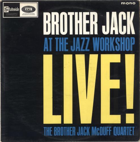 Jack McDuff Brother Jack At The Jazz Workshop - Factory Sample vinyl LP album (LP record) UK UFJLPBR723186