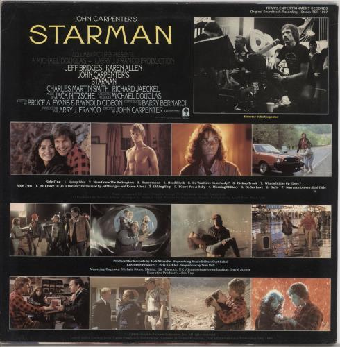 Jack Nitzsche John Carpenter's Starman vinyl LP album (LP record) UK KQCLPJO728415