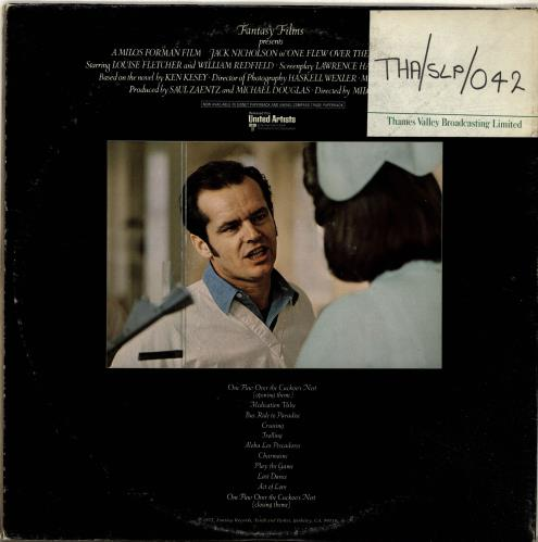 Jack Nitzsche One Flew Over The Cuckoo's Nest vinyl LP album (LP record) US KQCLPON693457