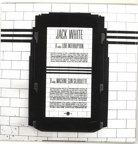 """Jack White Love Interruption 7"""" vinyl single (7 inch record) US ITE07LO690626"""