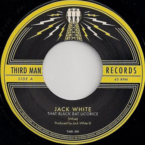 "Jack White That Black Bat Licorice 7"" vinyl single (7 inch record) US ITE07TH682903"