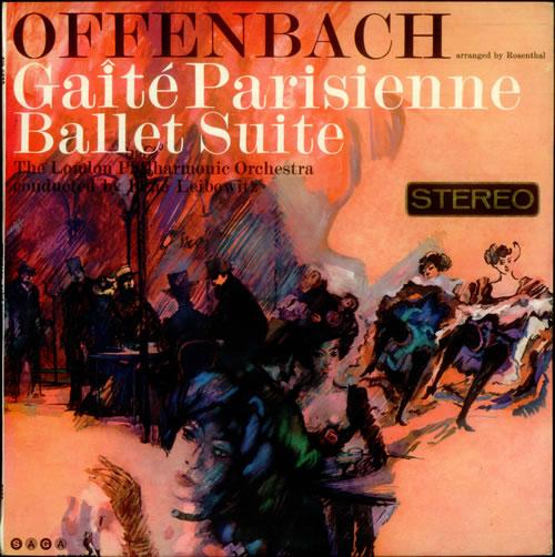 Jacques Offenbach Gaite Parisienne Ballet Suite vinyl LP album (LP record) UK J4GLPGA539072