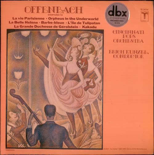Jacques Offenbach Overtures vinyl LP album (LP record) US J4GLPOV538893