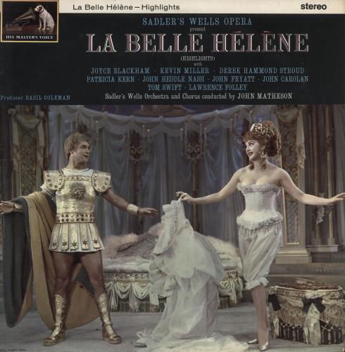 Jacques Offenbach Sadler's Wells Opera Present La Belle Hélène vinyl LP album (LP record) UK J4GLPSA745676