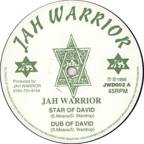 "Jah Warrior Star Of David/ Vampire 12"" vinyl single (12 inch record / Maxi-single) UK Q8I12ST712270"