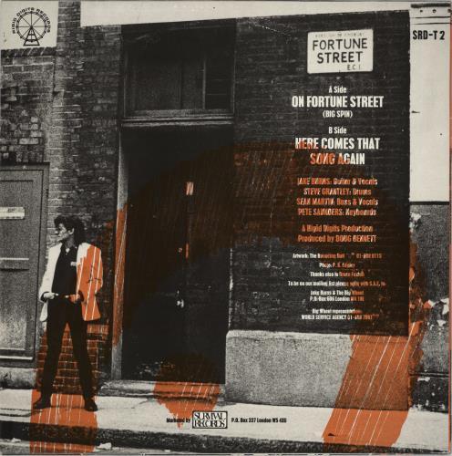 "Jake Burns On Fortune Street 12"" vinyl single (12 inch record / Maxi-single) UK JKR12ON768520"