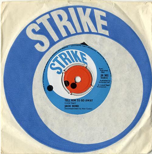 "Jaki Bond Tell Him To Go Away 7"" vinyl single (7 inch record) UK K4K07TE627441"