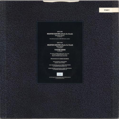 "Jaki Graham Heaven Knows (Feels So Good) (Extended Version) 12"" vinyl single (12 inch record / Maxi-single) UK JAK12HE712227"
