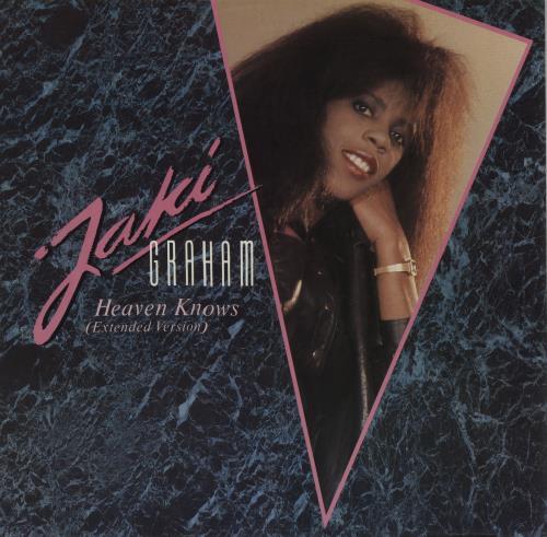 "Jaki Graham Heaven Knows 12"" vinyl single (12 inch record / Maxi-single) UK JAK12HE195360"