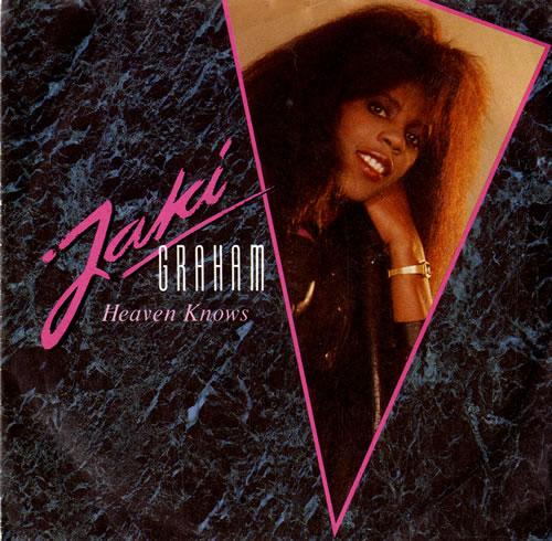 "Jaki Graham Heaven Knows 7"" vinyl single (7 inch record) UK JAK07HE581321"
