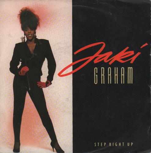 "Jaki Graham Step Right Up - P/S 7"" vinyl single (7 inch record) UK JAK07ST655890"