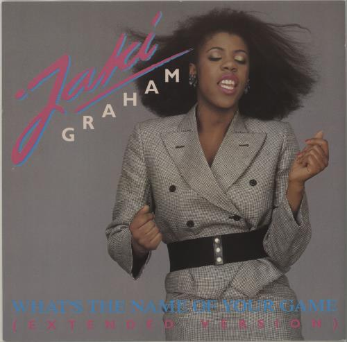 "Jaki Graham What's The Name Of Your Game 12"" vinyl single (12 inch record / Maxi-single) UK JAK12WH677006"