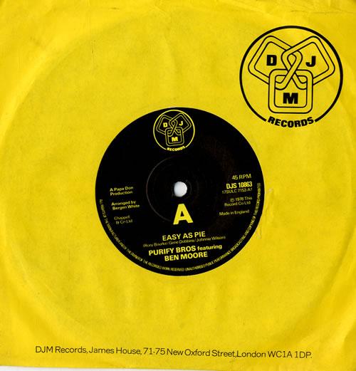 "James And Bobby Purify Easy As Pie 7"" vinyl single (7 inch record) UK J+B07EA564462"