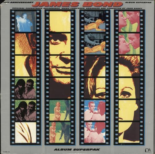 James Bond 10th Anniversary - Album Superpak 2-LP vinyl record set (Double Album) US JBD2LTH728865