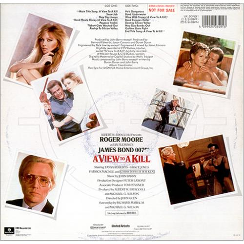James Bond A View To A Kill vinyl LP album (LP record) UK JBDLPAV418289