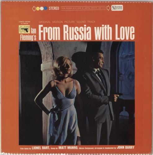 James Bond From Russia With Love vinyl LP album (LP record) US JBDLPFR728871