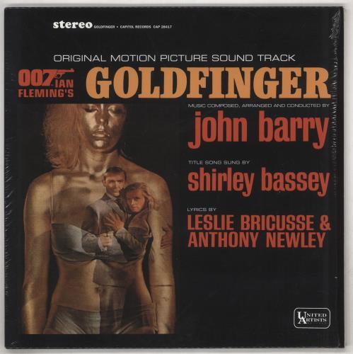 James Bond Goldfinger - 180gm Vinyl + Shrink vinyl LP album (LP record) UK JBDLPGO738876