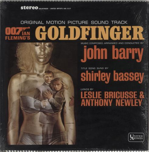 James Bond Goldfinger - shrink vinyl LP album (LP record) US JBDLPGO728855