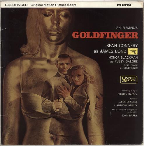 James Bond Goldfinger vinyl LP album (LP record) UK JBDLPGO567612