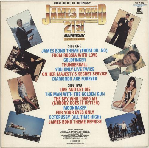 James Bond James Bond 21st Anniversary UK vinyl LP album (LP record