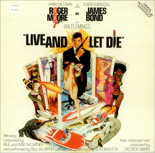 James Bond Live And Let Die vinyl LP album (LP record) UK JBDLPLI455020