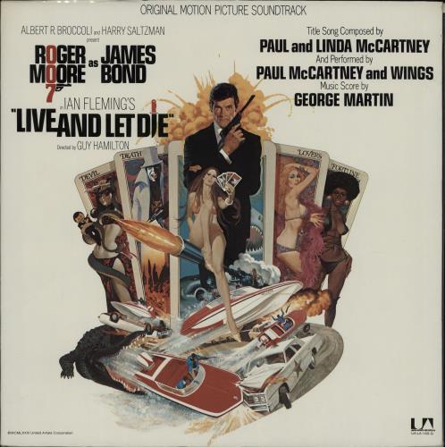 James Bond Live And Let Die vinyl LP album (LP record) US JBDLPLI764751