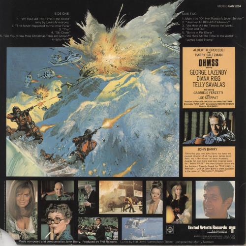 James Bond On Her Majesty's Secret Service vinyl LP album (LP record) US JBDLPON728863