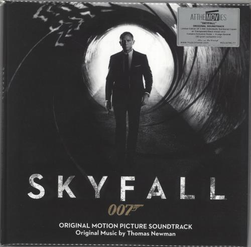 James Bond Skyfall - 180gm Transparent & Black Mixed Vinyl 2-LP vinyl record set (Double Album) UK JBD2LSK706172