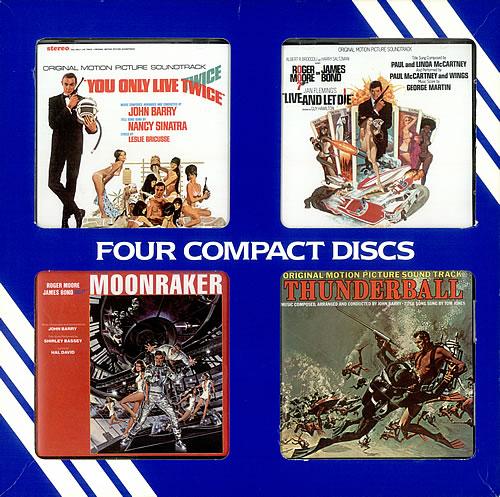 James Bond Soundtrack CD Gift Set US box set