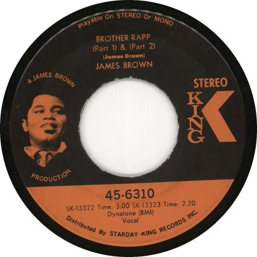 "James Brown Brother Rapp (Part 1) & (Part 2) 7"" vinyl single (7 inch record) US JMB07BR719780"
