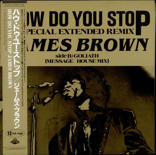 "James Brown How Do You Stop 12"" vinyl single (12 inch record / Maxi-single) Japanese JMB12HO499398"