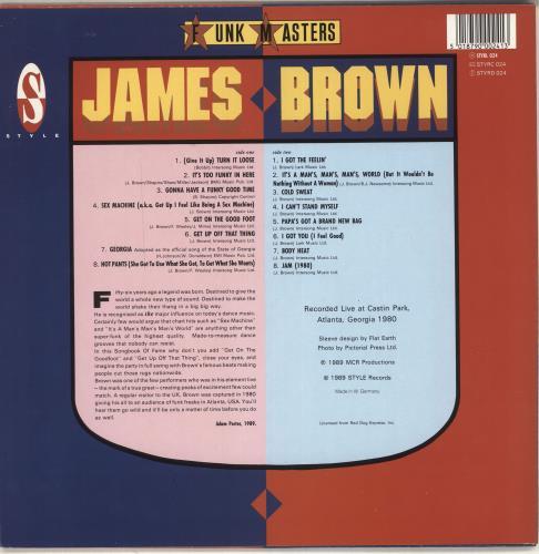 James Brown Live! vinyl LP album (LP record) German JMBLPLI716142