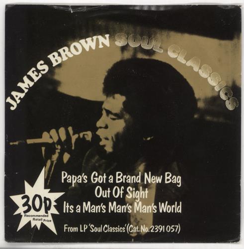 "James Brown Soul Classics + Sleeve - EX 7"" vinyl single (7 inch record) UK JMB07SO721700"