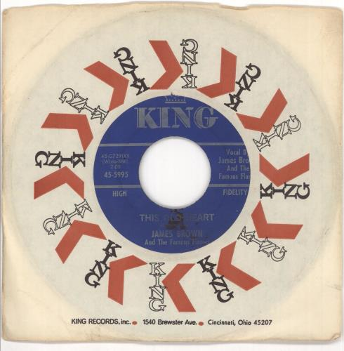 "James Brown This Old Heart 7"" vinyl single (7 inch record) US JMB07TH719743"