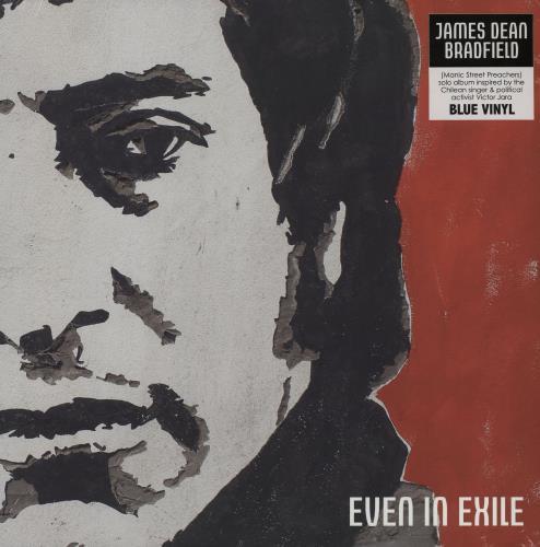 James Dean Bradfield Even In Exile - Blue Vinyl - Sealed vinyl LP album (LP record) UK JDBLPEV750638