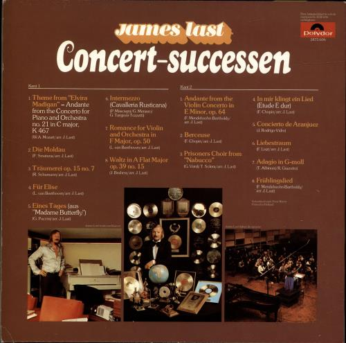 James Last Concert-Successen vinyl LP album (LP record) Dutch JLSLPCO695595