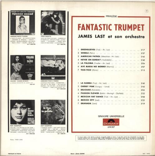 James Last Fantastic Trumpet vinyl LP album (LP record) French JLSLPFA695459